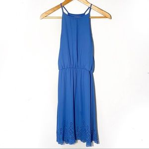 Anthropologie | Everly | High Neck Blue Dress